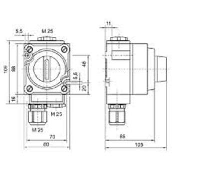 Łącznik przeciwwybuchowy Ex 8030 wymiary