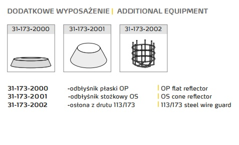 Oprawa przeciwwybuchowa 1130-03 Ex - wyposażenie dodatkowe