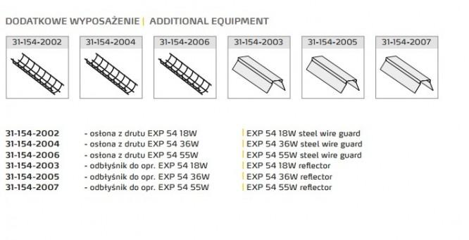 EXP 54 Wyposażenie dodatkowe