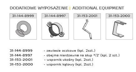 Osprzęt do opraw przeciwwybuchowych EXP 02, EXP 03