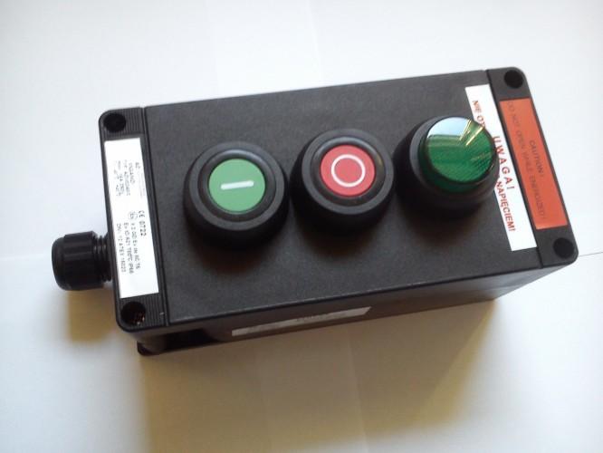 Kaseta przeciwwybuchowa ADV0240/3 sterownicza Ex START-STOP-LAMPKA