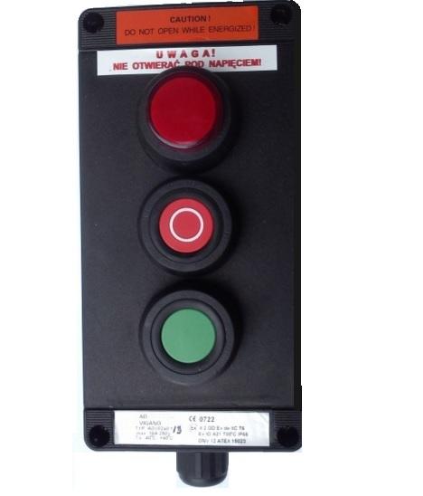 Kaseta przeciwwybuchowa ADV0240_3 sterownicza Ex START-STOP-LAMPKA