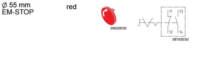 Kaseta sterownicza przeciwwybuchowa przycisk awaryjny GRZYBEK 8040 1180X-15L07BA05 - Schemat elektryczny