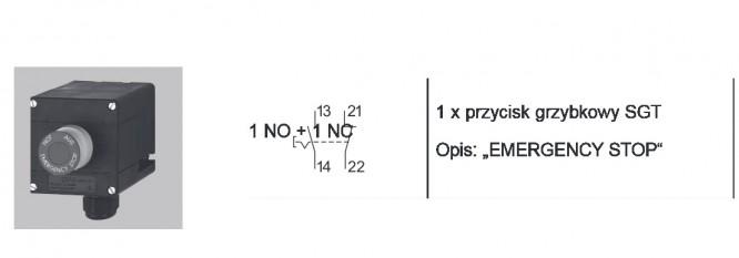 Schemat połączeń dla kaseta przeciwwybuchowa GHG 411 EMERGENCY STOP