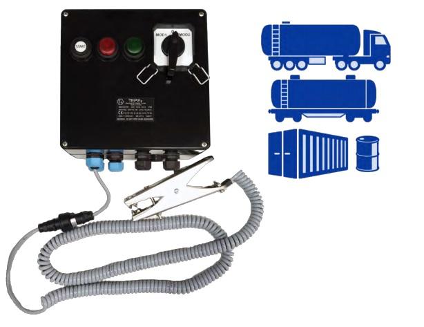 system kontroli uziemienia, uziemienia elektrostatyczne Ex